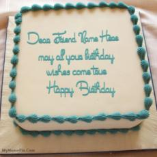 Birthday Cake With Wish With Name