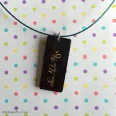 Black Wood Necklace