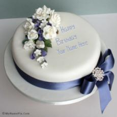Elegant Happy Birthday Cake With Name