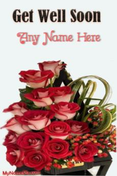 Get Well Soon Bouquet Wish Card With Name