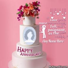 Happy Anniversary Cake With Picture