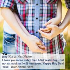 Happy Hug Day Couple