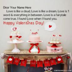 Happy Valentines Day Wallpaper With Name