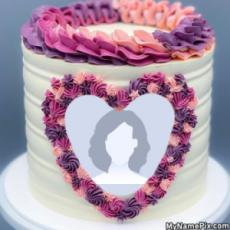 Heart Birthday Cake With Picture