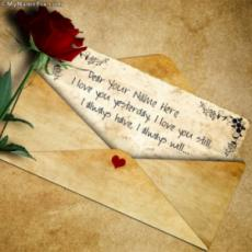 Beautiful Love Letter With Name