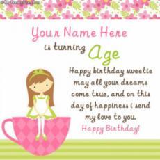 Birthday Wish for Girl