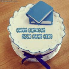 Books Birthday Cake With Name