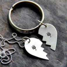 Couple Heart Chain With Name