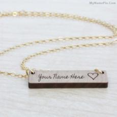 Engraved Bar Necklace
