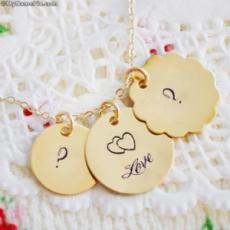 Golden Initial Heart Necklace With Name