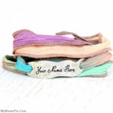 Hand Dyed Silk Wrap Bracelet