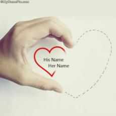 Hand Heart With Name