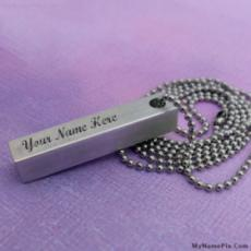 Personalized Hand Stamped Pendant With Name