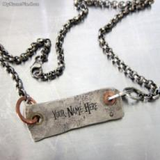 Personalized Hard Rough Necklace With Name