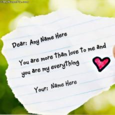 Love Note With Name