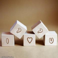 Love Wood Blocks With Name