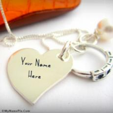 Nick Name Heart Necklace