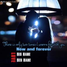 Now and Forever With Name
