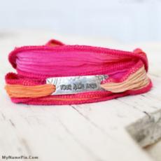 Personalized Silk Wrap Bracelets With Name