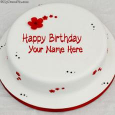 Simple Birthday Cake With Name