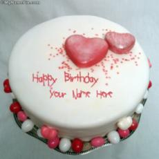 Specialty Heart Birthday Cake With Name