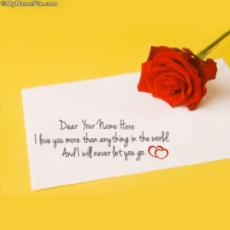 Red Rose with Note