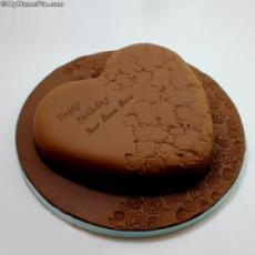 Yummy Chocolate Cake With Name