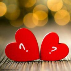 Love Hearts Alphabets Combination With Name