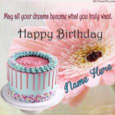 Lovely Happy Birthday Quotes Beautiful Wish Card With Name