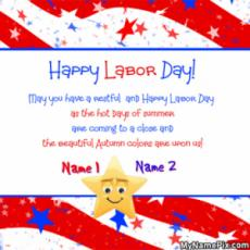 May You Have a Happy Labor Day Card With Name