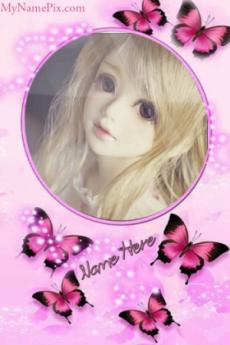 Mirror Frame Picture For Girls With Name For DP
