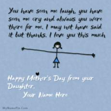 Mothers Day from Daughter