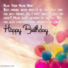 New Happy Birthday Wishes With Name