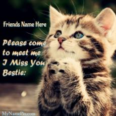 Please Come To Meet Me Friendship Day Card With Name
