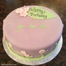 Pretty Birthday Cake With Name