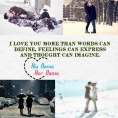 Romantic Winter With Name