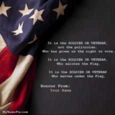Salutes the American Flag Happy Veterans Day