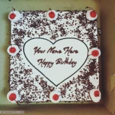 Square Black Forest Birthday Cake