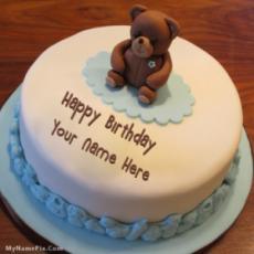 Teddy Bear Birthday Cake With Name