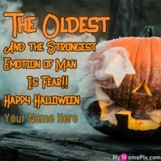 The Oldest and The Strongest Emotion Halloween Wish Card With Name