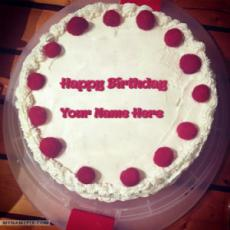 Unique Strawberry Birthday Cake With Name