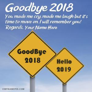 Goodbye 2018 Hello 2019 Wishes