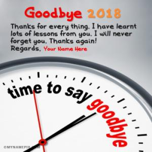 Goodbye 2018 New Years Countdown Wishes