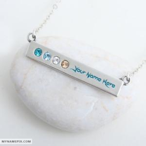 Personalized Best Decorated Silver Necklace With Name