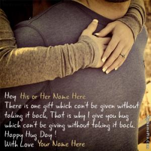 Best Hug Day Couple Wish With Name