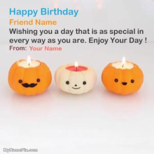 Best Pumpkin Candle Birthday Wish