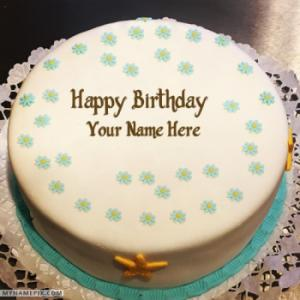 Butter Ice Cream Cake For Birthday Wishes