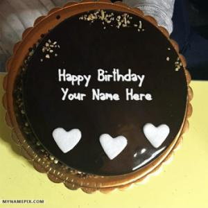 Cool Chocolate Birthday Cake With Name