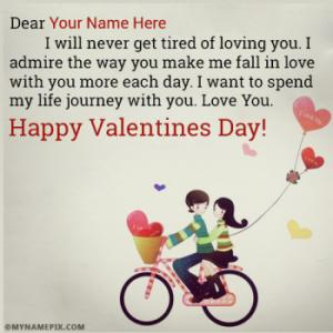 Create Romantic Valentines Day Images With Name