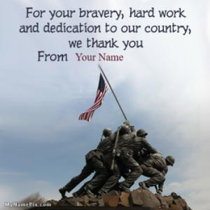 Dedication To Our Country Happy Veterans Day